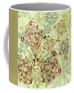 Blob Flower Painting #1 Pale Yellow Coffee Mug