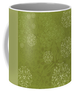 Blob Flower Painting #2 Yellow Green Coffee Mug