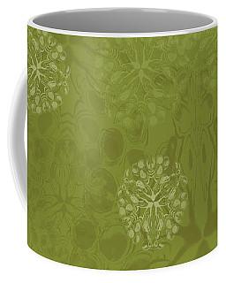 Blob Flower Painting #2 Yellow Green Coffee Mug