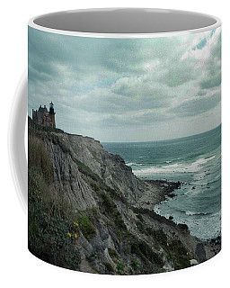 Block Island South East Lighthouse Coffee Mug by Skip Willits
