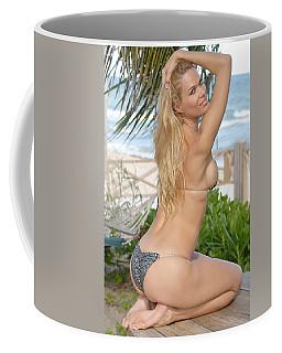 Blonde Beach Babe Coffee Mug