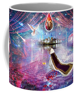 Coffee Mug featuring the digital art Blood Bought by Dolores Develde