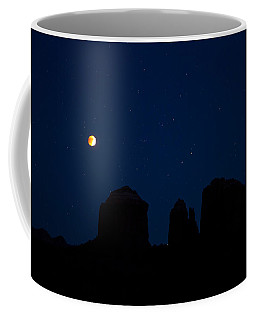 Blood Moon Over Cathedral Coffee Mug