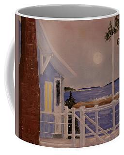 Blood Moon Over Muscongus Sound Coffee Mug
