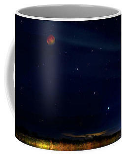 Coffee Mug featuring the photograph Blood Moon Party by Mark Andrew Thomas