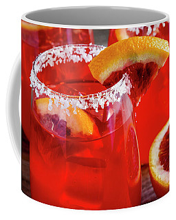 Blood Orange Margaritas On The Rocks Coffee Mug by Teri Virbickis