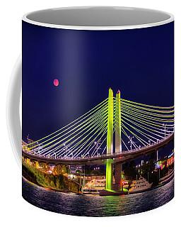 Blood Red Moon Over Tilikum Crossing Coffee Mug