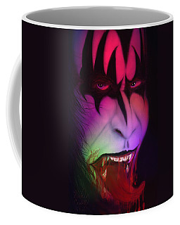 Coffee Mug featuring the painting Bloody Demon by Kevin Caudill