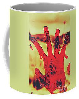 Bloody Halloween Palm Print Coffee Mug
