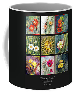 Coffee Mug featuring the painting Blooming Cactus by Marilyn Smith