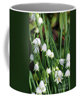Blooming Snow Drop Lily Flowers In The Wild Coffee Mug by DejaVu Designs
