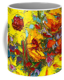 Coffee Mug featuring the painting Colorful Wildflowers, Abstract Floral Art  by Patricia Awapara