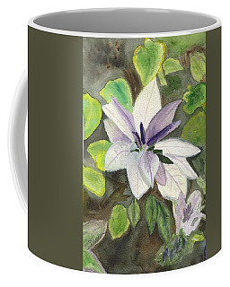 Coffee Mug featuring the painting Blossom At Sundy House by Donna Walsh