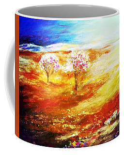 Coffee Mug featuring the painting Blossom Dawn by Winsome Gunning