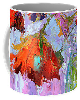 Coffee Mug featuring the painting Blossom Dreams In A Vase Oil Painting, Floral Still Life by Patricia Awapara