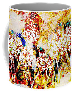 Coffee Mug featuring the painting Blossom Morning by Winsome Gunning