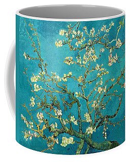 Coffee Mug featuring the painting Blossoming Almond Tree by Van Gogh