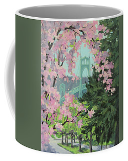 Blossoming Bridge Coffee Mug