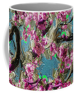 Coffee Mug featuring the digital art Blossoms And Branches by Dale Stillman