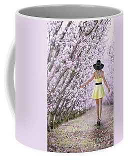 Blossoms Falling Like Snow Coffee Mug
