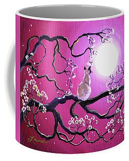 Blossoms In Fuchsia Moonlight Coffee Mug