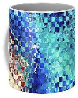 Blue Abstract Art - Pieces 2 - Sharon Cummings Coffee Mug