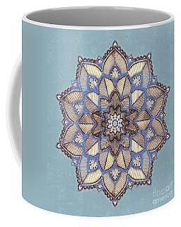 Blue And White Mandala Coffee Mug