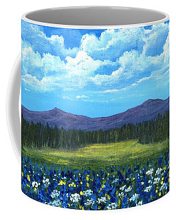 Coffee Mug featuring the painting Blue Afternoon by Anastasiya Malakhova