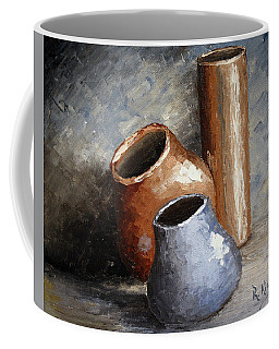 Blue And Brown Pots Coffee Mug