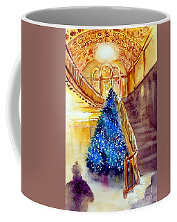 Blue And Gold 2 - Michigan Theater In Ann Arbor Coffee Mug by Yoshiko Mishina