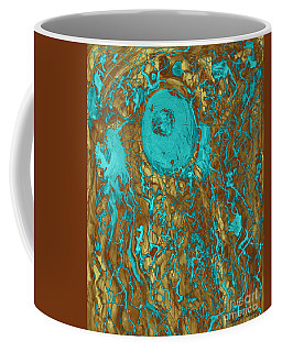 Blue And Gold Abstract Coffee Mug