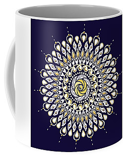 Blue And Gold Lens Mandala Coffee Mug