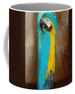 Blue And Gold Macaw Coffee Mug by Ann Michelle Swadener