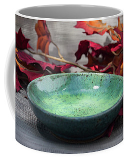 Blue And Green Shallow Bowl Coffee Mug