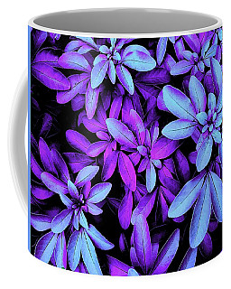 Blue And Purple Leaved Coffee Mug