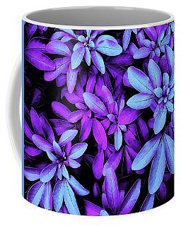 Blue And Purple Leaved Coffee Mug