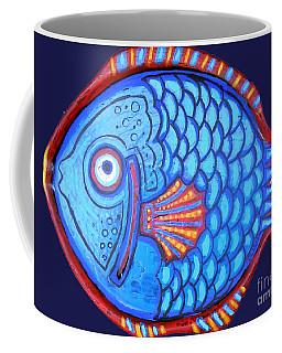 Blue And Red Fish Coffee Mug