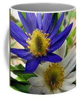 Blue And White Anemones Coffee Mug