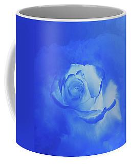 Blue And White Arising Coffee Mug