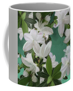 Blue And White Flower Art 2 Coffee Mug