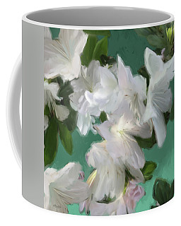Blue And White Flower Art 3 Coffee Mug