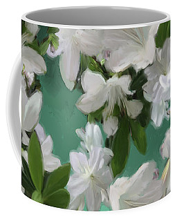 Blue And White Flower Art  Coffee Mug