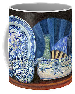 Blue And White Porcelain Ware Coffee Mug
