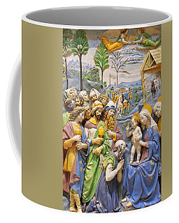 Coffee Mug featuring the photograph Blue And Yellow by Munir Alawi