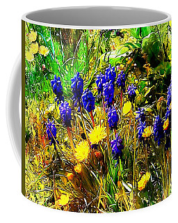 Blue And Yellow Wild Flower Medley Coffee Mug