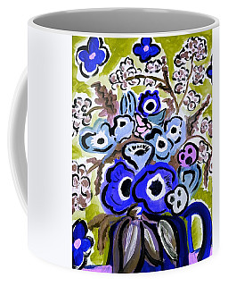 Blue Anemones Coffee Mug