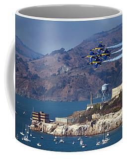 Blue Angels Over Alcatraz Coffee Mug