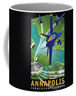 Blue Angels Over Annapolis Usna Coffee Mug