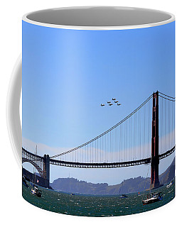 Blue Angels Over Golden Gate Bridge Coffee Mug