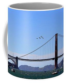 Blue Angels Over Golden Gate Bridge Coffee Mug